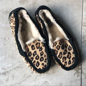 UGG Black Trimmed Cheetah Loafers